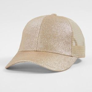 Gold glitter C.C PonyTail Hat